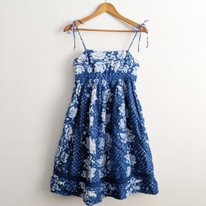 Gap Blue Strappy Floral Dress Size 4